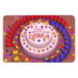 Debra's Birthday Cake Magnets