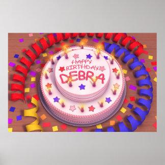 Debra's Birthday Cake Poster