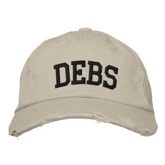 Debs Embroidered Hat Baseball Cap