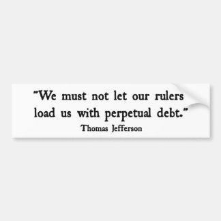 Debt Bumper Stickers
