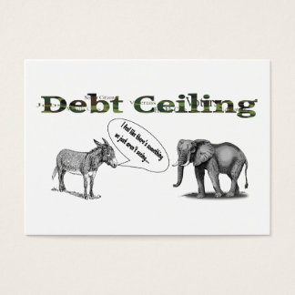 Debt Ceiling Camouflage Postcard Business Card
