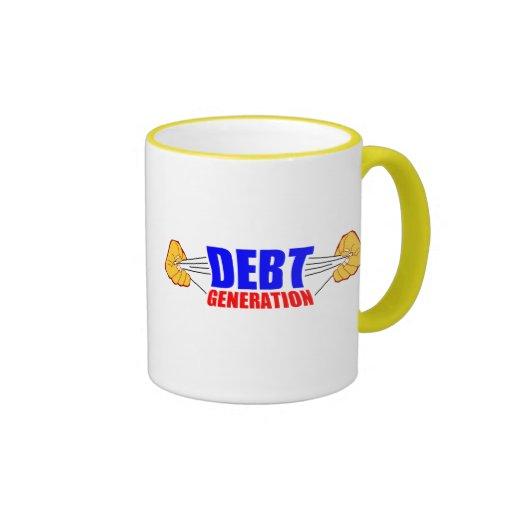 debt coffee mug