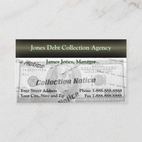 Debt collection collector agency business card zazzle debt collection collector agency business card colourmoves
