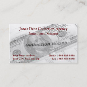Debt collection business cards templates zazzle debt collection collector agency business card colourmoves