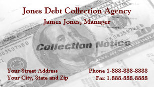 Debt collection business cards templates zazzle debt collection collector agency business card colourmoves Images