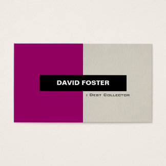 Debt Collector - Simple Elegant Stylish Business Card