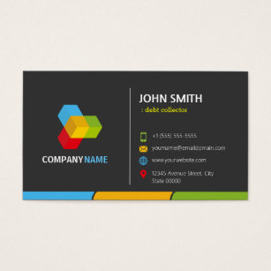 Debt collection business cards templates zazzle debt collector stylish dark colorful business card colourmoves Images