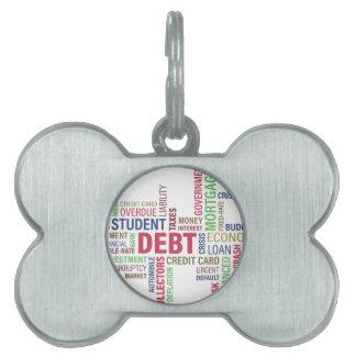 Debt-credit,loss Pet Name Tag