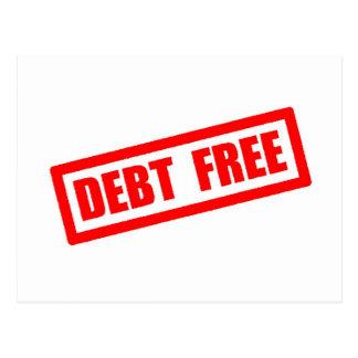 Debt Free Postcard