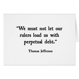 Debt Greeting Card