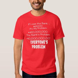 Debt is everyone's problem dark tee shirt