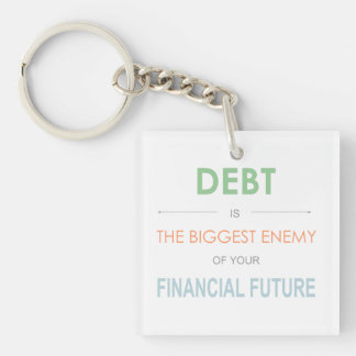 debt is the biggest enemy keychain Dave Ramsey