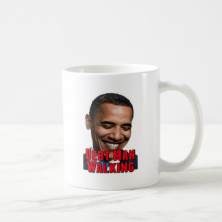 Debt Man Walking Obama Coffee Mug