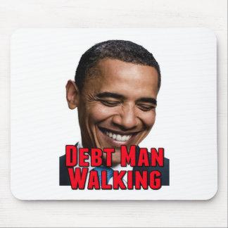 Debt Man Walking Obama Mouse Pad