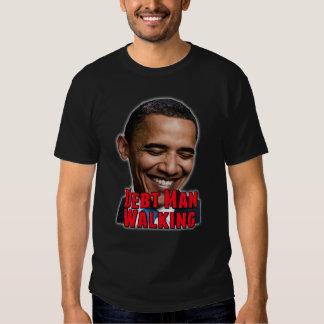 Debt Man Walking Obama Shirt