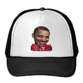 Debt Man Walking Obama Trucker Hat