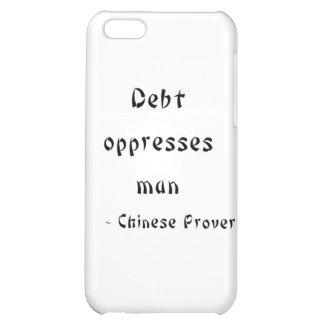 Debt oppresses man iPhone 5C case