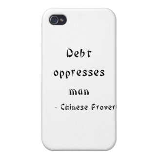 Debt oppresses man covers for iPhone 4