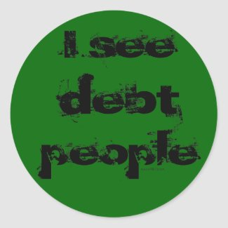 Debt People Sticker