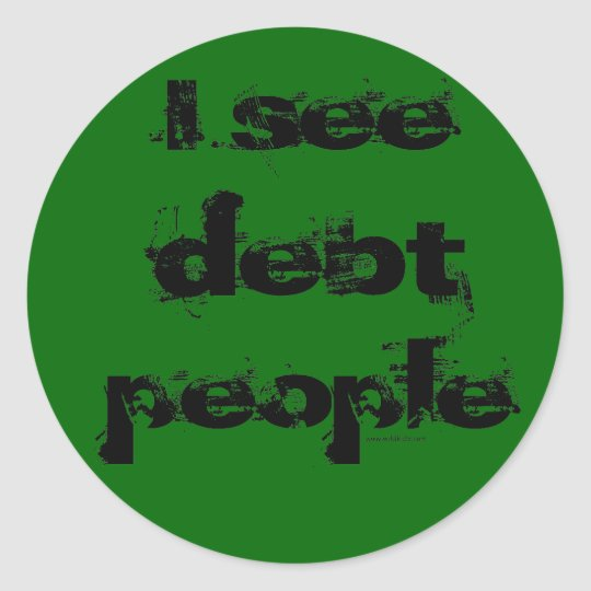 Debt People Sticker