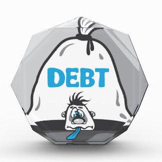 Debt Pressure Acrylic Award
