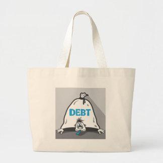 Debt Pressure Large Tote Bag