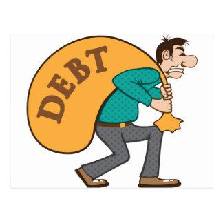Debt pressure / load struggle postcard