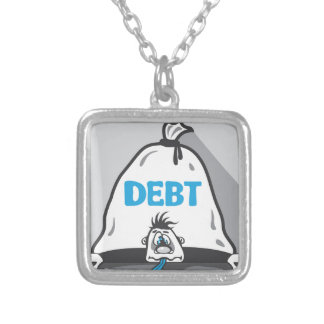 Debt Pressure Silver Plated Necklace
