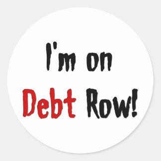 Debt Row Sticker