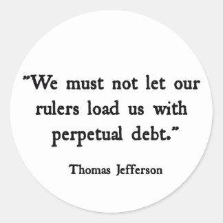 Debt Stickers