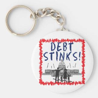 Debt Stinks Basic Round Button Keychain