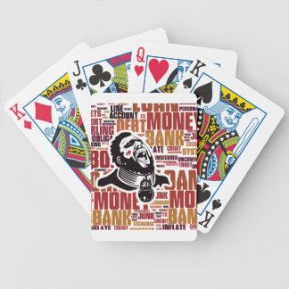 Debt Trap Word Cloud Bicycle Playing Cards