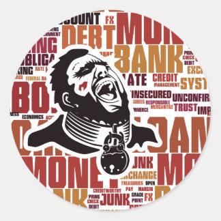 Debt Trap Word Cloud Classic Round Sticker