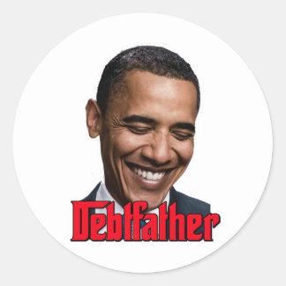 Debtfather Classic Round Sticker