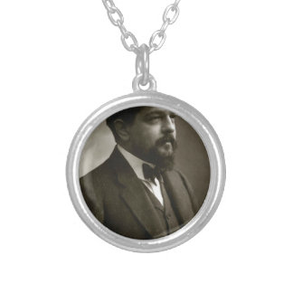 debussy round pendant necklace