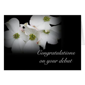 Debut Congratulations Eastern Dogwood Blossoms Card