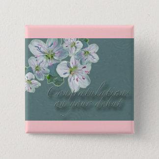 Debut Congratulations Spring Beauty Wildflower Button
