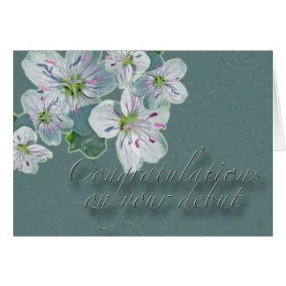 Debut Congratulations Spring Beauty Wildflower Card