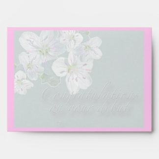 Debut Congratulations Spring Beauty Wildflower Envelope
