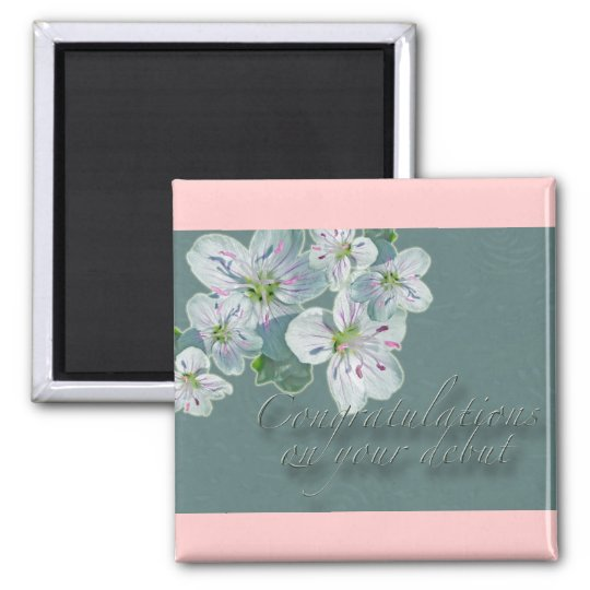 Debut Congratulations Spring Beauty Wildflower Magnet