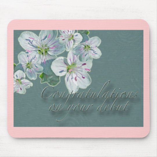 Debut Congratulations Spring Beauty Wildflower Mouse Pad