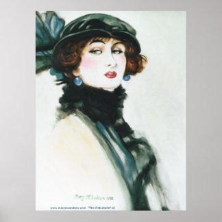 Debutante Victorian Lady Portrait Poster