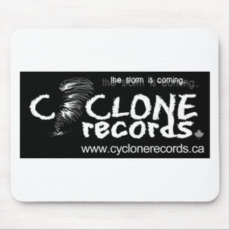 dec08Cyclone Logo (new)-black Mouse Pad