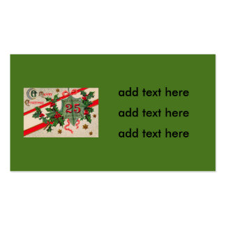 Dec 25th Holly Christmas Ornament Double-Sided Standard Business Cards (Pack Of 100)