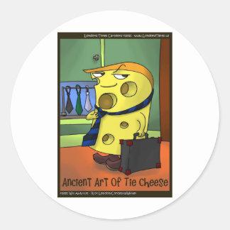dec tie cheese large 2222222222222 round sticker
