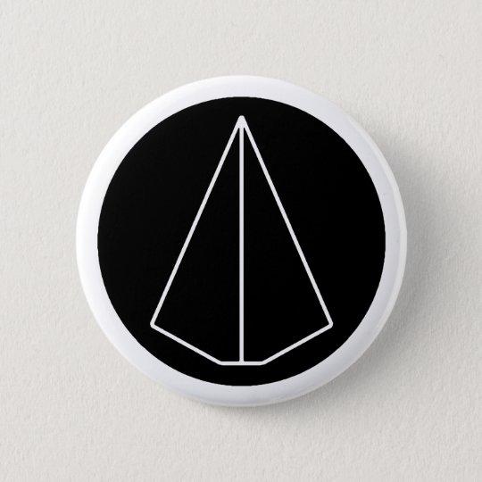 Deca Symbol Paper Airplane Pinback Button Zazzle