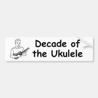 Década del Ukulele Pegatina De Parachoque