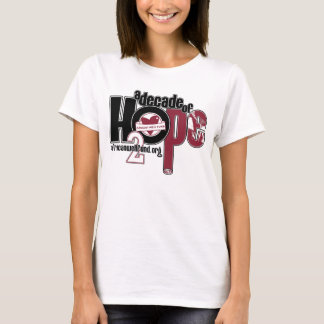 Decade of Hope Ladies baby doll T-Shirt
