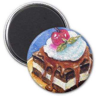 Decadent Brownie 2 Inch Round Magnet