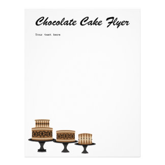 decadent Chocolate Cake Personalized Flyer